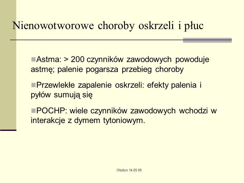 Nienowotworowe choroby oskrzeli i płuc
