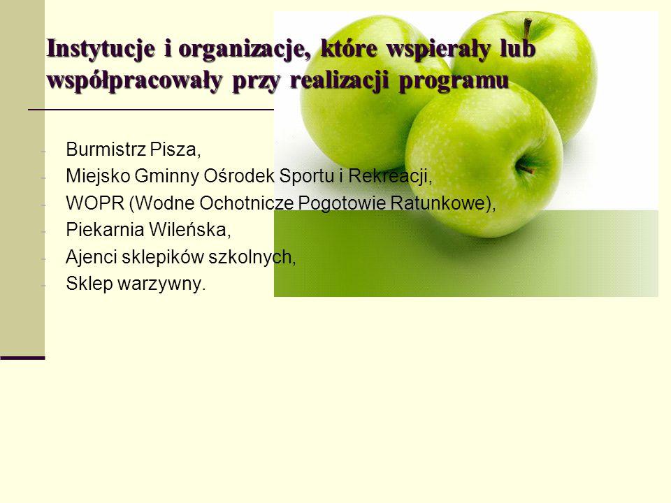 Instytucje i organizacje, które wspierały lub współpracowały przy realizacji programu