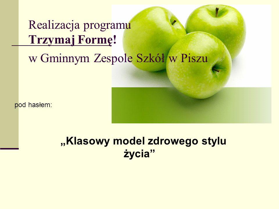 Realizacja programu Trzymaj Formę! w Gminnym Zespole Szkół w Piszu