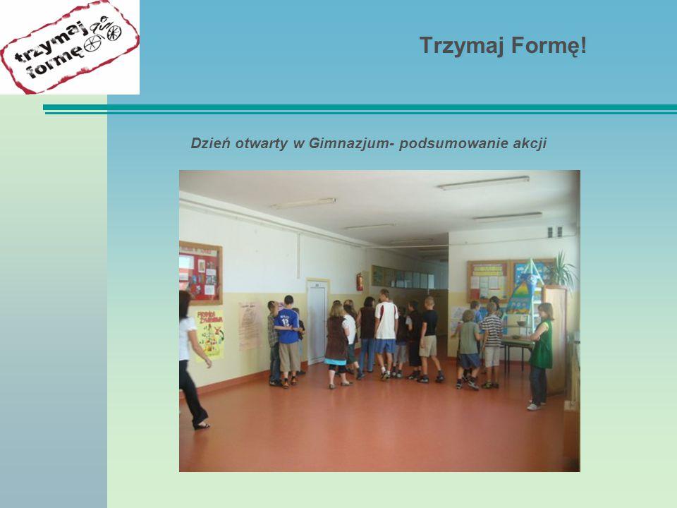 Dzień otwarty w Gimnazjum- podsumowanie akcji