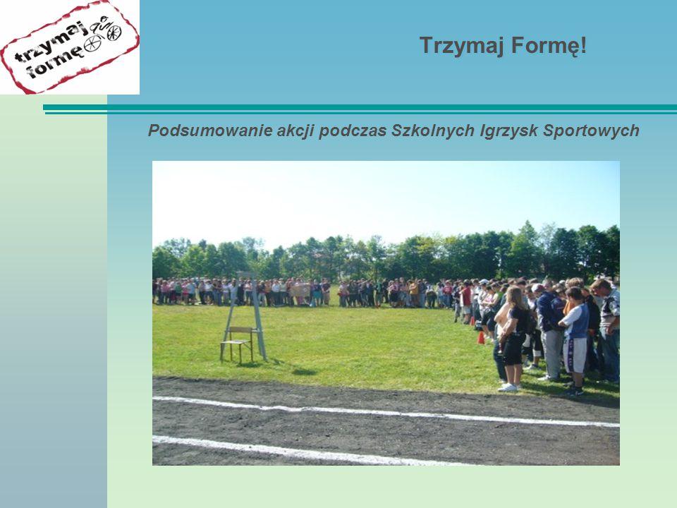 Podsumowanie akcji podczas Szkolnych Igrzysk Sportowych