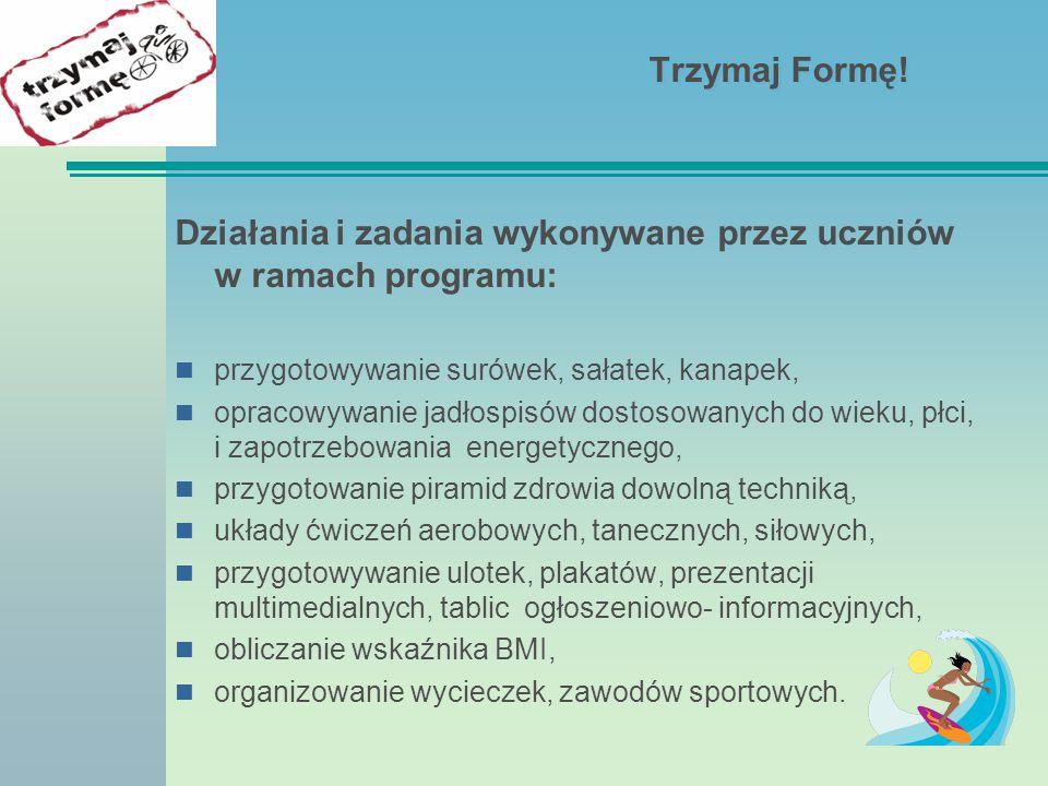 Działania i zadania wykonywane przez uczniów w ramach programu: