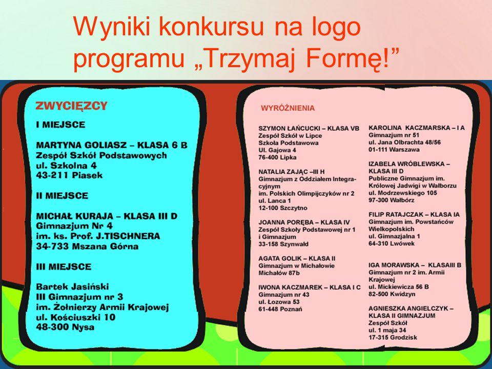 """Wyniki konkursu na logo programu """"Trzymaj Formę!"""