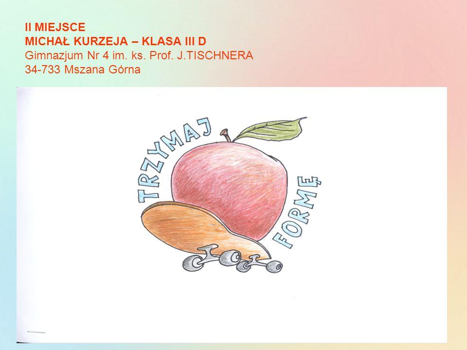 II MIEJSCE MICHAŁ KURZEJA – KLASA III D Gimnazjum Nr 4 im. ks. Prof. J