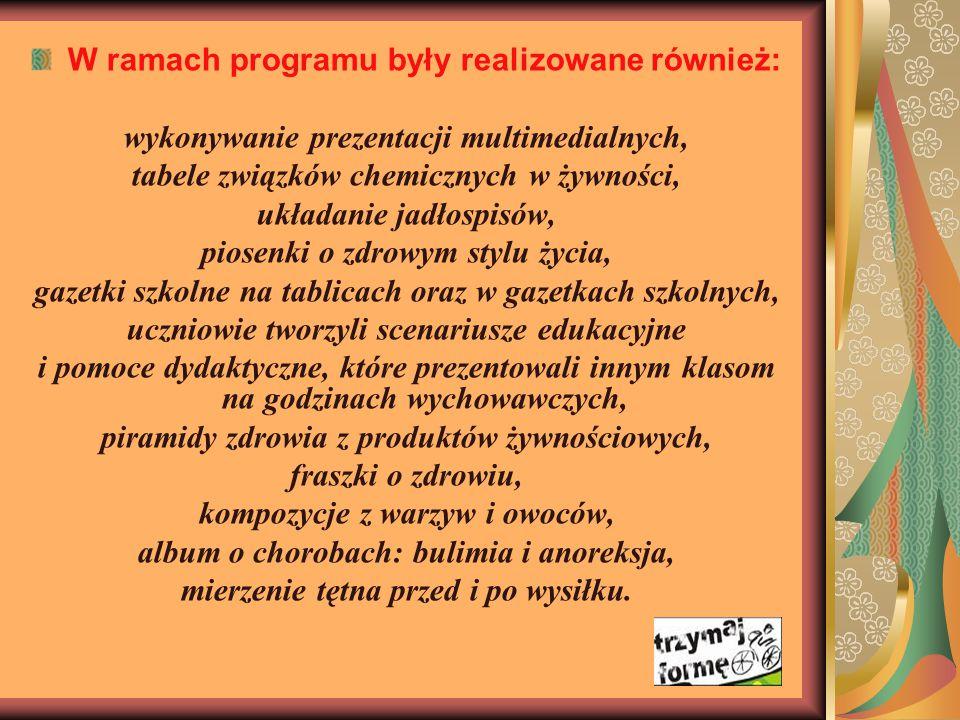 W ramach programu były realizowane również: