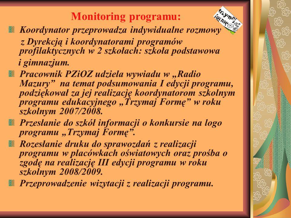 Monitoring programu: Koordynator przeprowadza indywidualne rozmowy