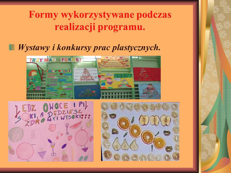 Formy wykorzystywane podczas realizacji programu.