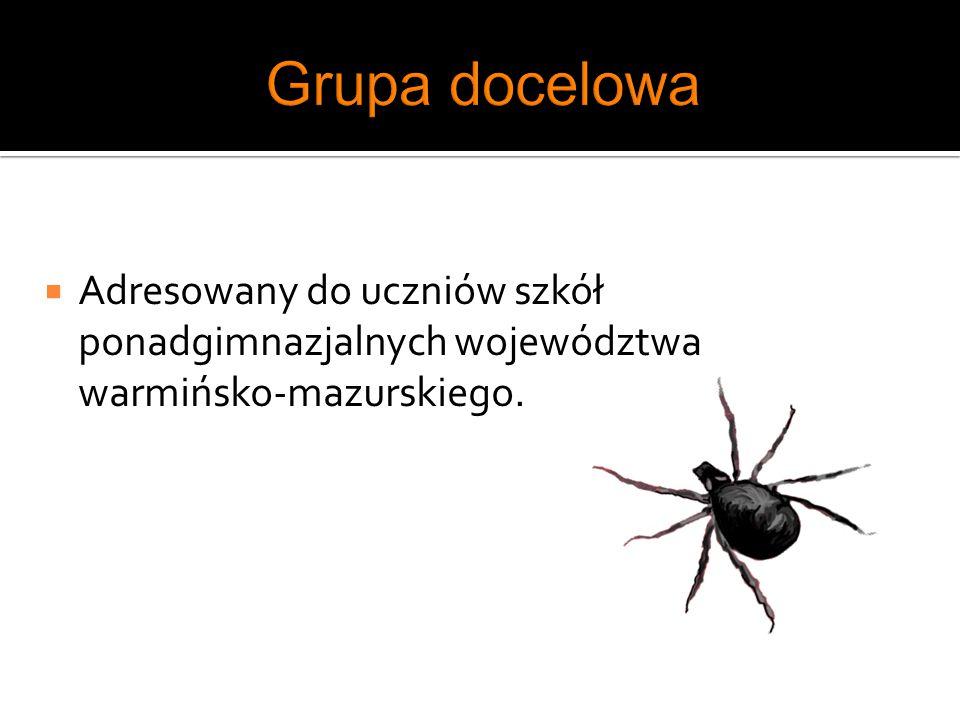 Grupa docelowa Adresowany do uczniów szkół ponadgimnazjalnych województwa warmińsko-mazurskiego.