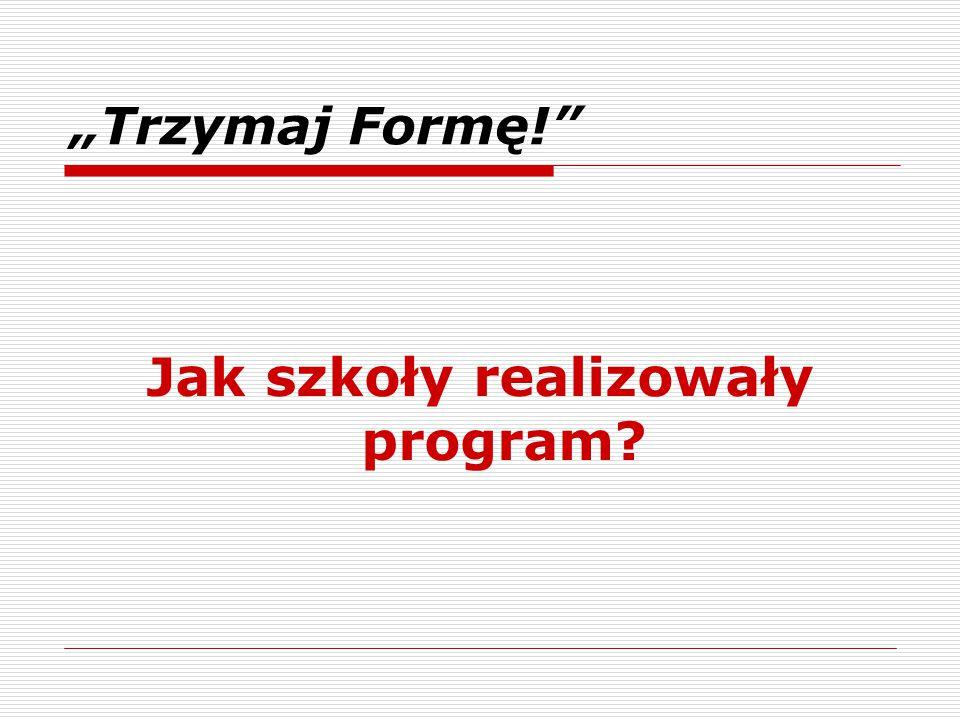 Jak szkoły realizowały program
