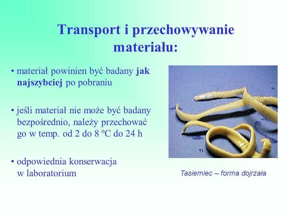 Transport i przechowywanie materiału: