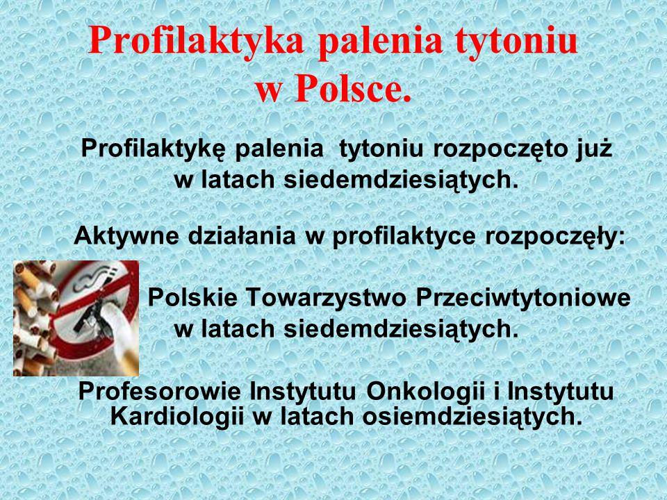 Profilaktyka palenia tytoniu w Polsce.