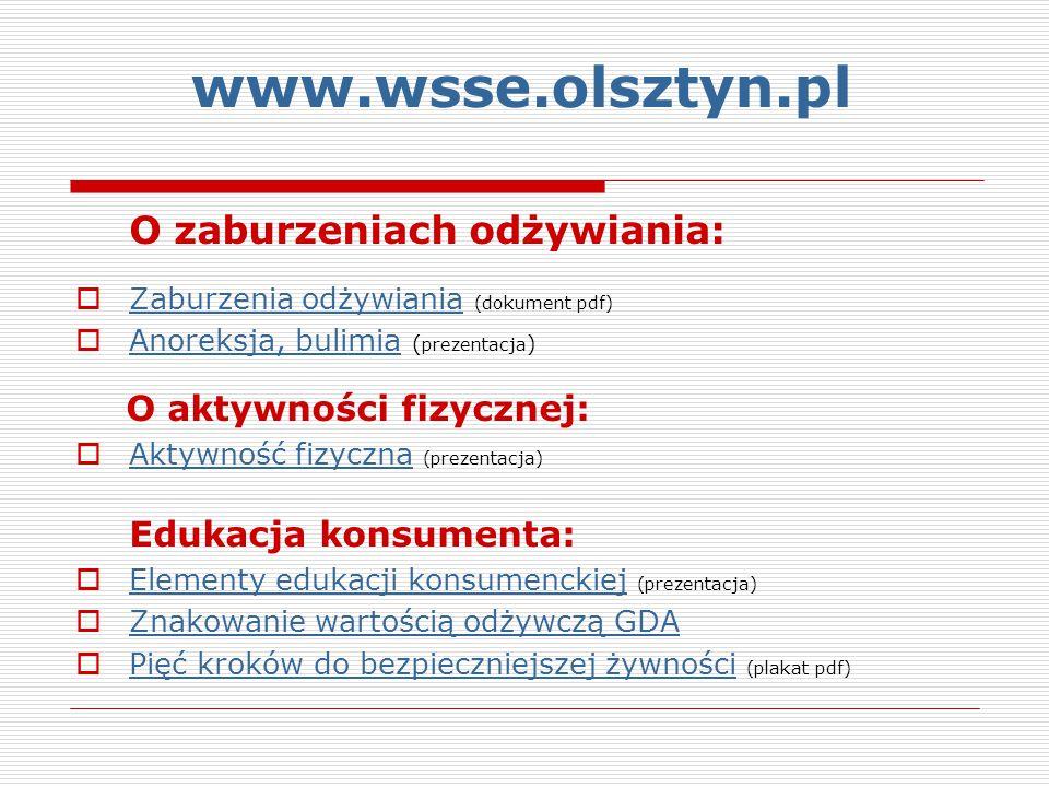 www.wsse.olsztyn.pl O zaburzeniach odżywiania: