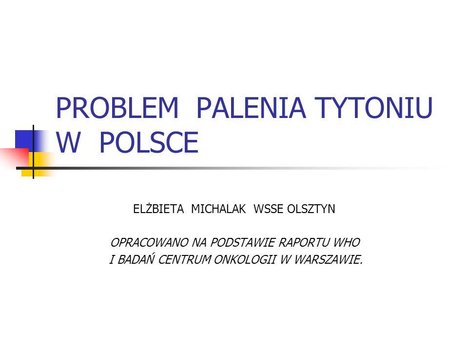PROBLEM PALENIA TYTONIU W POLSCE