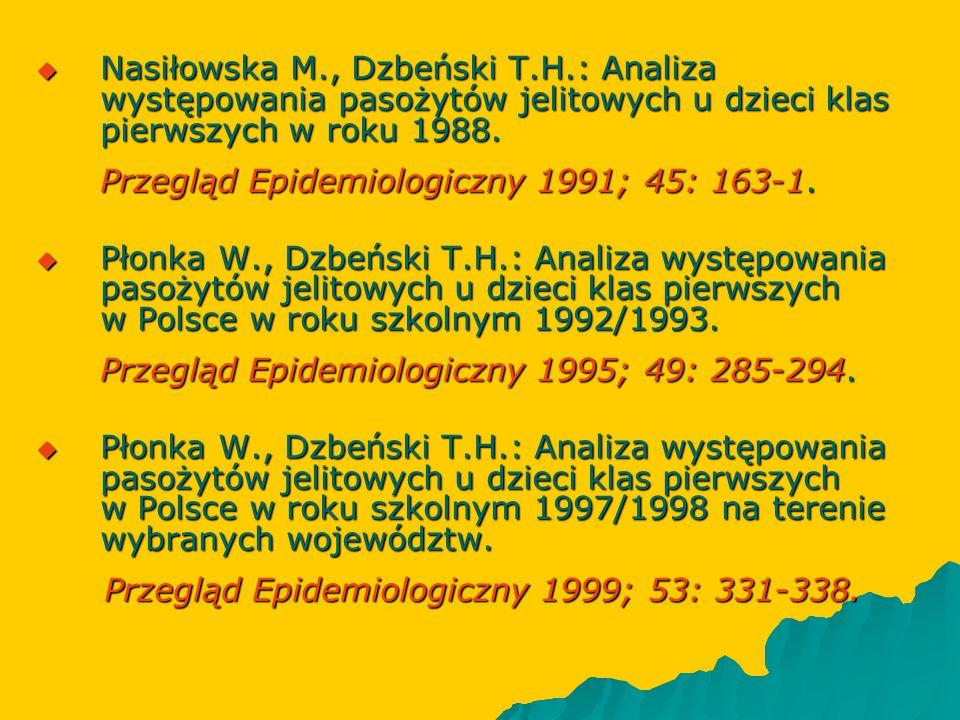 Nasiłowska M. , Dzbeński T. H
