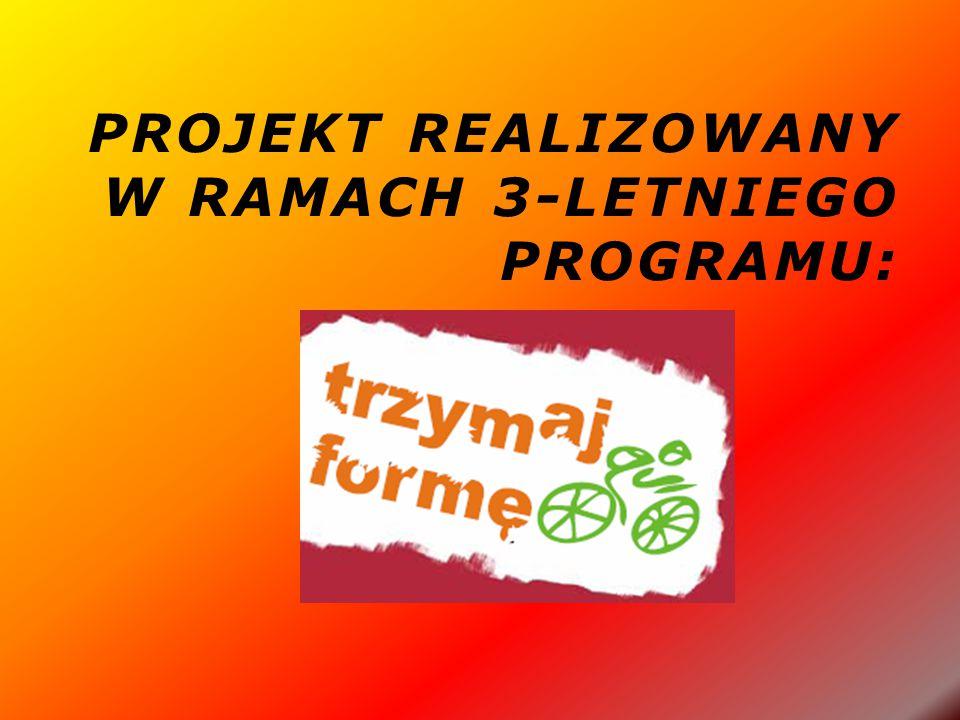 PROJEKT REALIZOWANY W RAMACH 3-LETNIEGO PROGRAMU:
