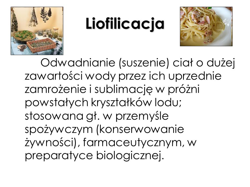 Liofilicacja