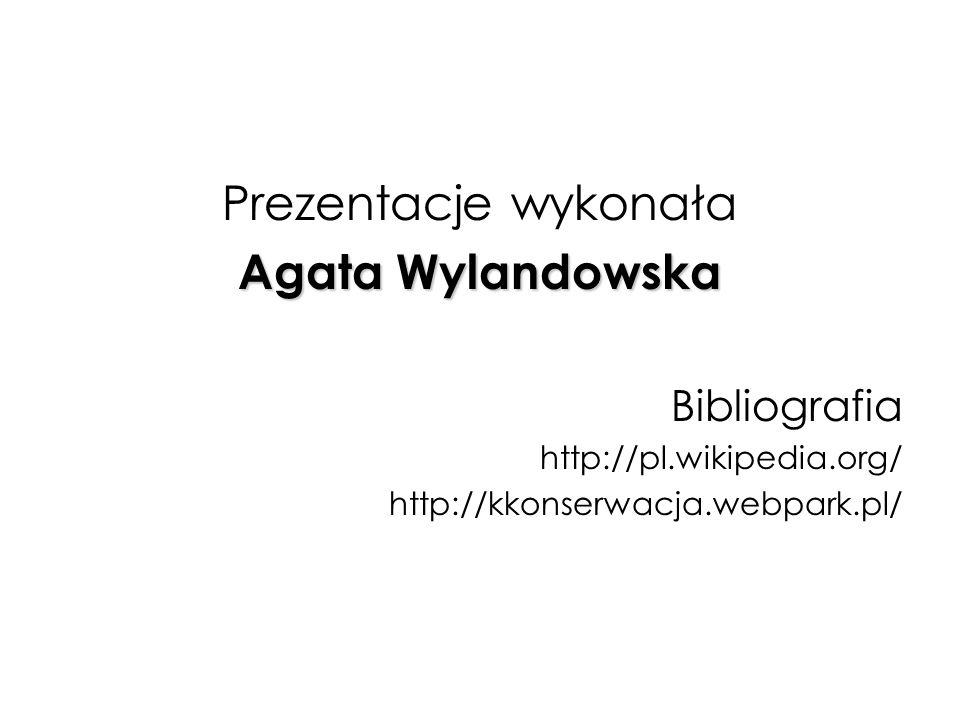 Prezentacje wykonała Agata Wylandowska Bibliografia
