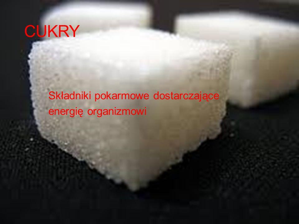 Składniki pokarmowe dostarczające energię organizmowi
