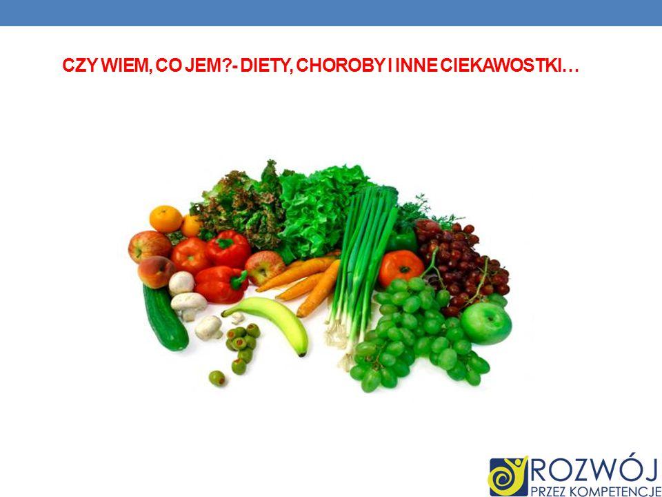 Czy wiem, co jem - diety, choroby i inne ciekawostki…