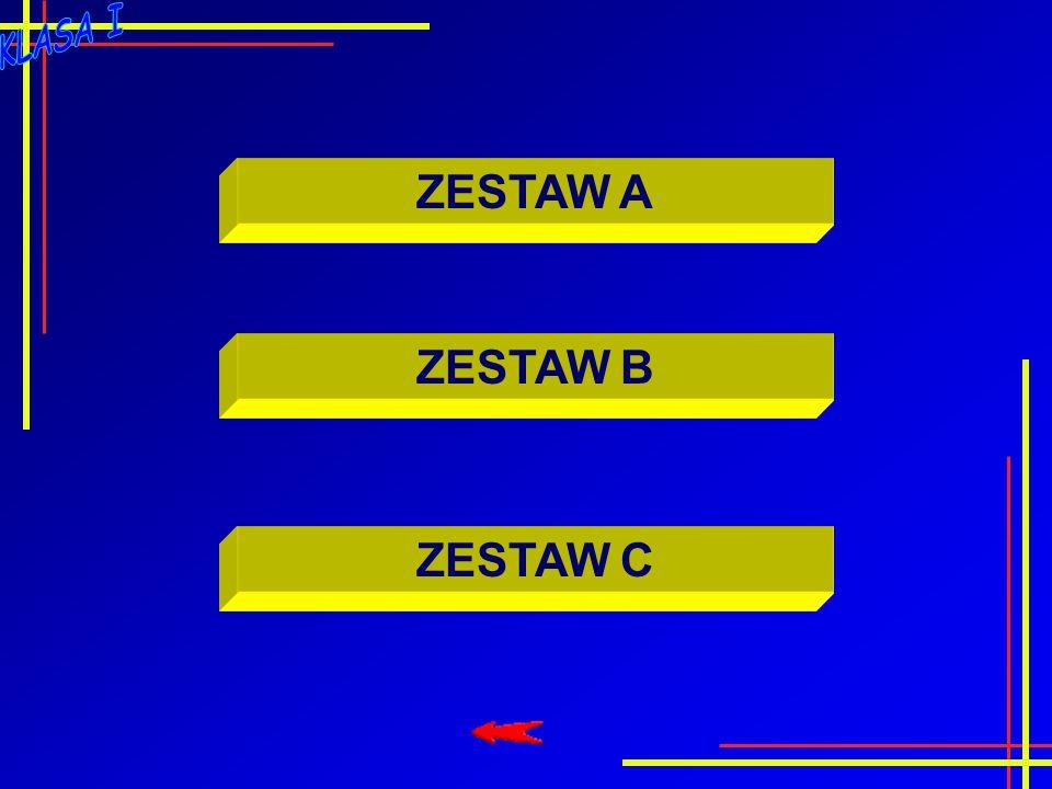 ZESTAW A ZESTAW B ZESTAW C