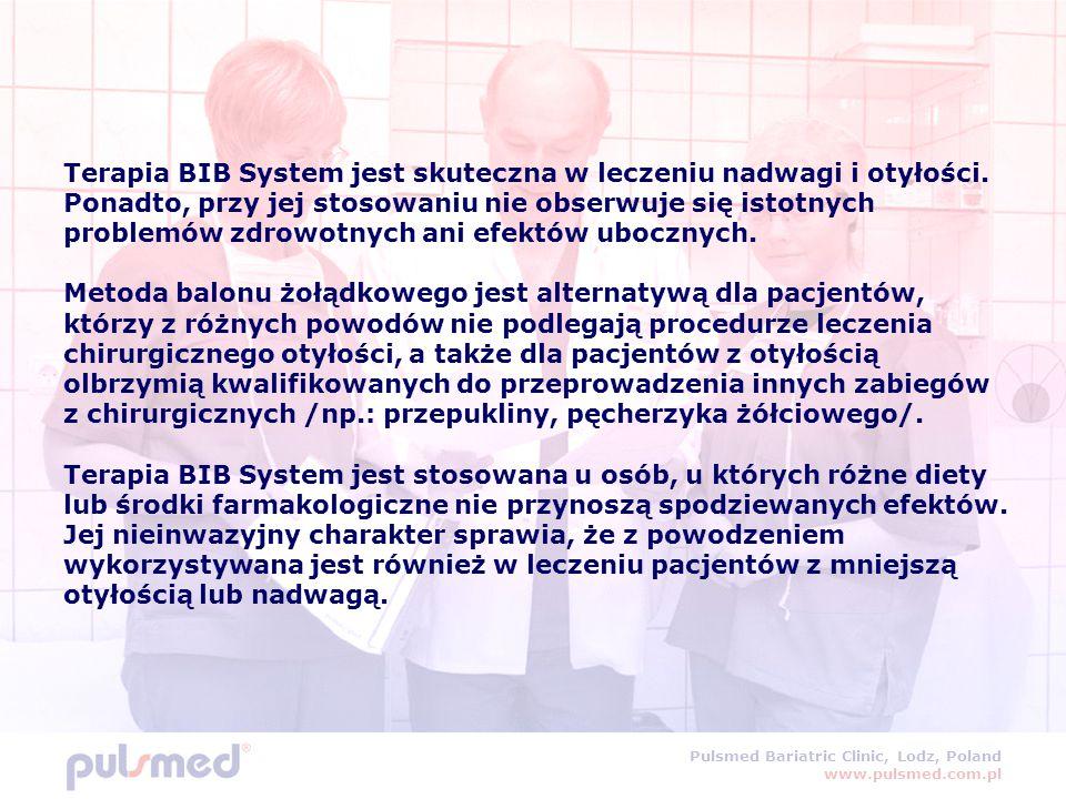 Terapia BIB System jest skuteczna w leczeniu nadwagi i otyłości