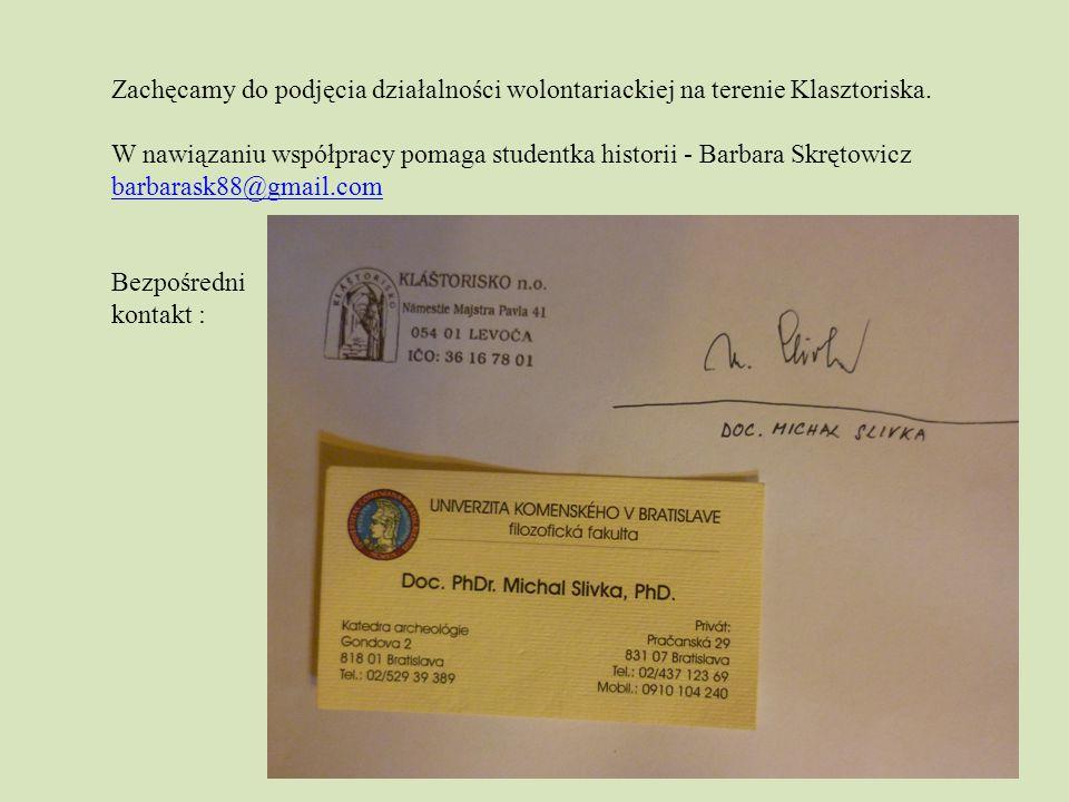 Zachęcamy do podjęcia działalności wolontariackiej na terenie Klasztoriska.