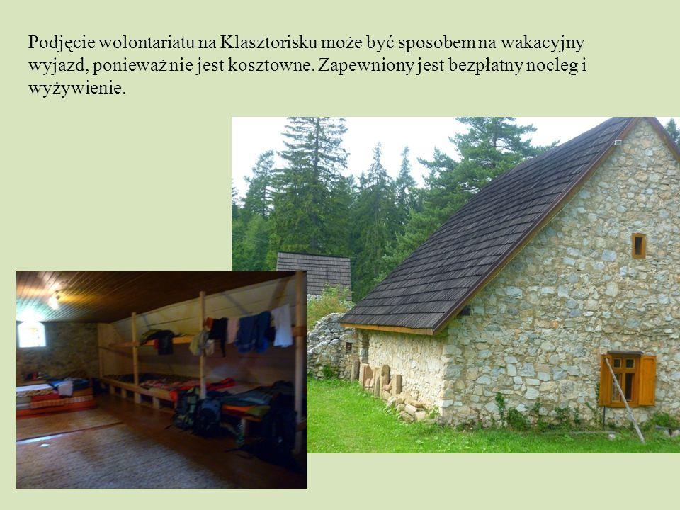 Podjęcie wolontariatu na Klasztorisku może być sposobem na wakacyjny wyjazd, ponieważ nie jest kosztowne.