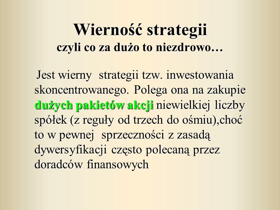 Wierność strategii czyli co za dużo to niezdrowo…