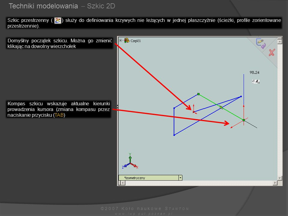 Techniki modelowania  Szkic 2D