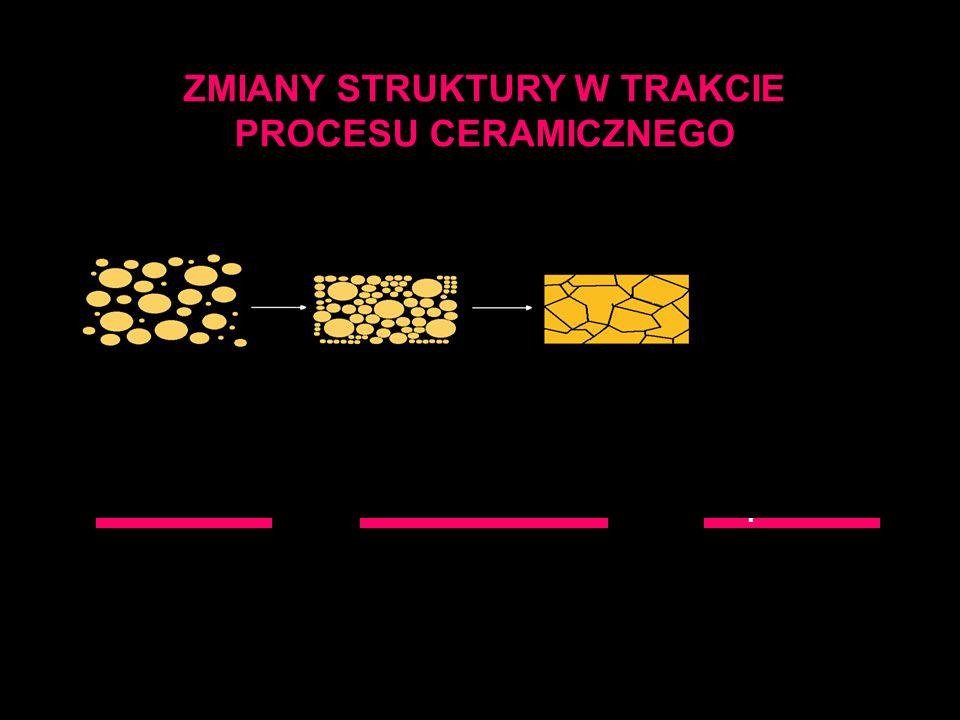 ZMIANY STRUKTURY W TRAKCIE PROCESU CERAMICZNEGO