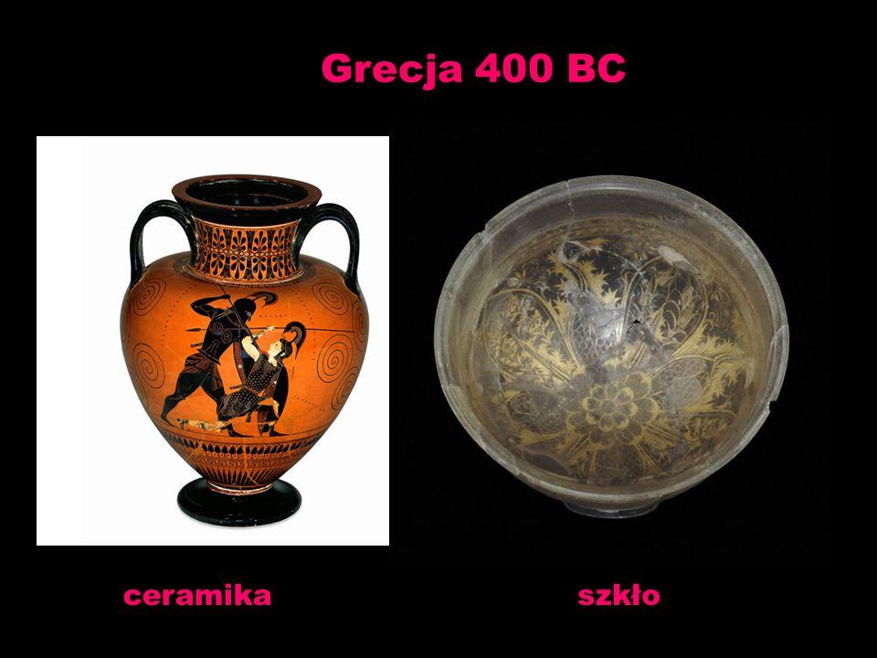 Grecja 400 BC ceramika szkło