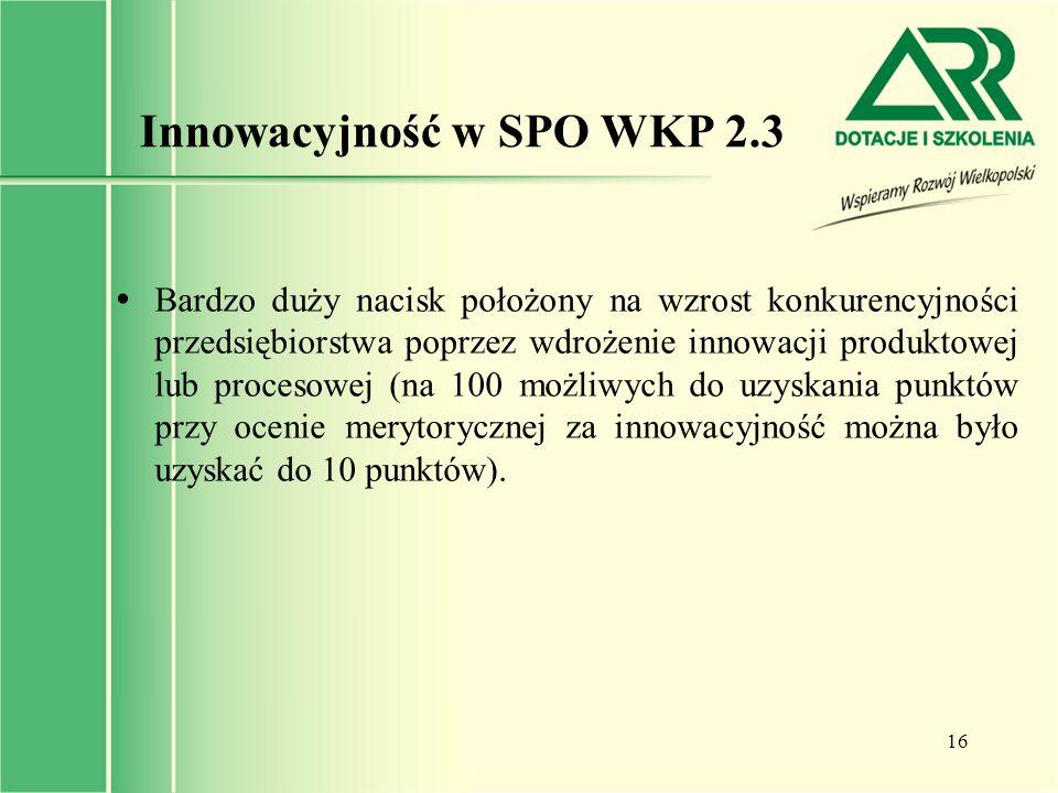Innowacyjność w SPO WKP 2.3