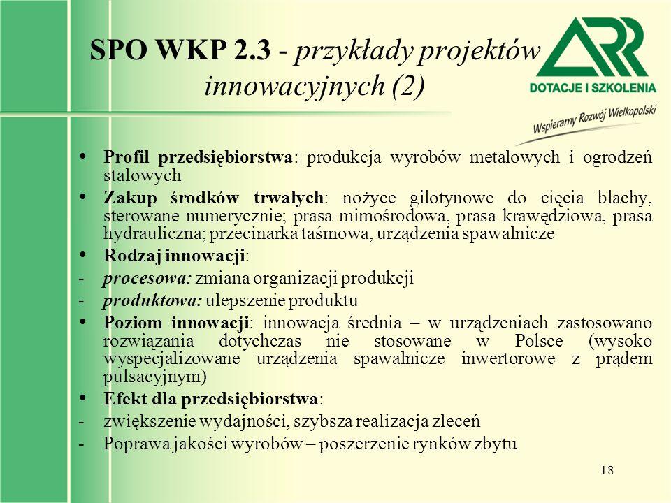 SPO WKP 2.3 - przykłady projektów innowacyjnych (2)