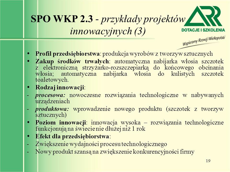 SPO WKP 2.3 - przykłady projektów innowacyjnych (3)
