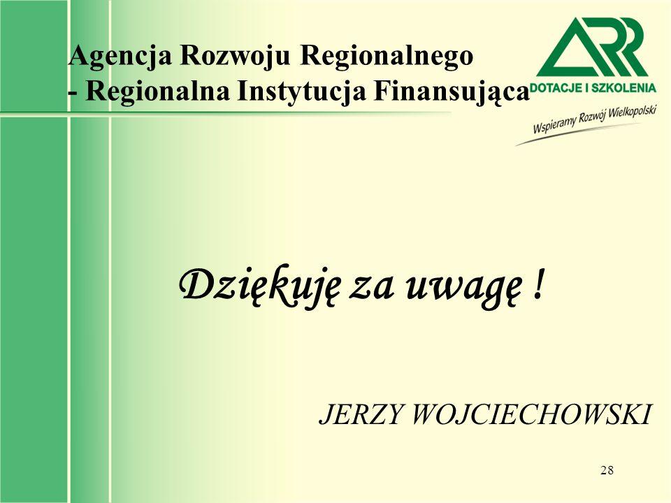 Agencja Rozwoju Regionalnego - Regionalna Instytucja Finansująca