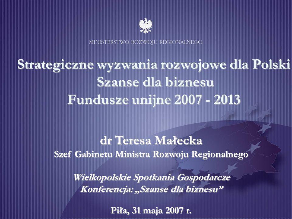 Szanse dla biznesu Fundusze unijne 2007 - 2013