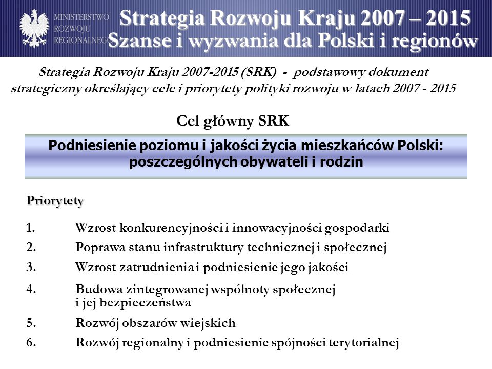 Strategia Rozwoju Kraju 2007 – 2015