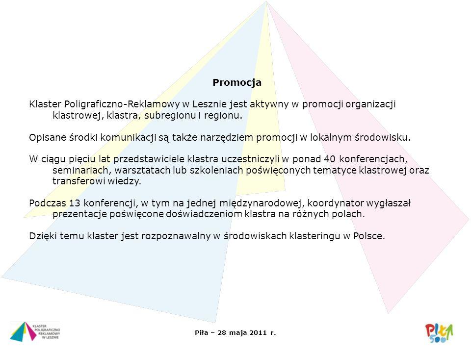 Promocja Klaster Poligraficzno-Reklamowy w Lesznie jest aktywny w promocji organizacji klastrowej, klastra, subregionu i regionu.