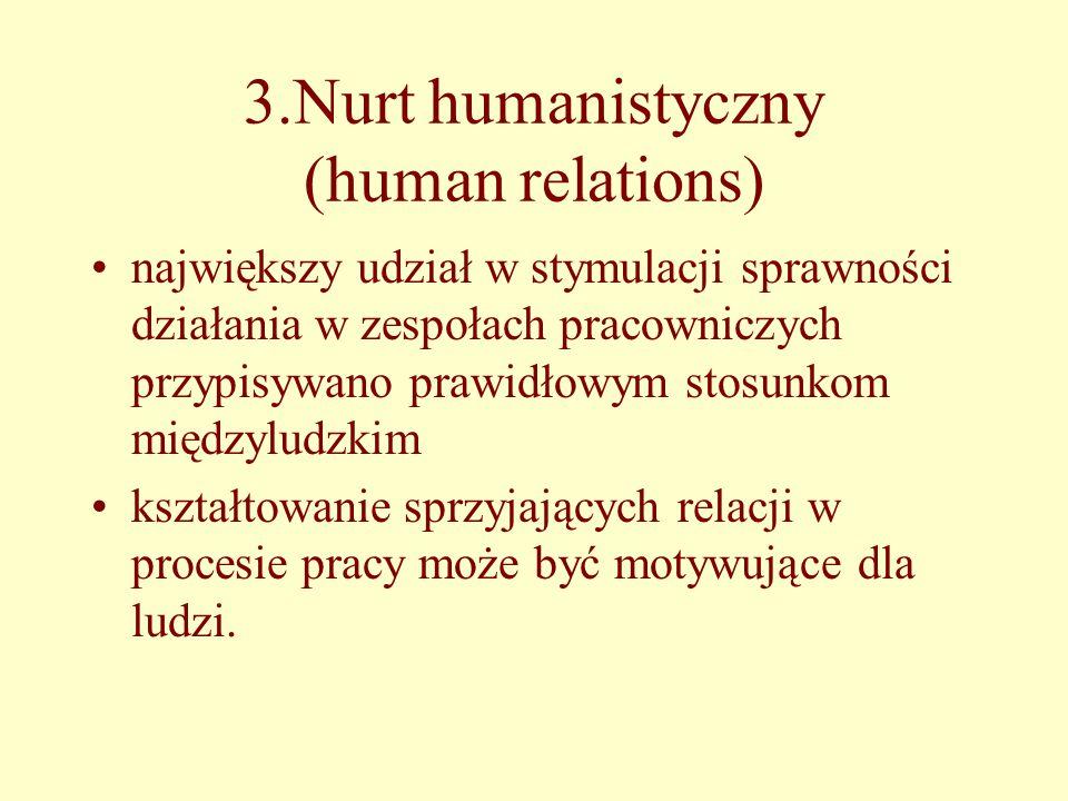 3.Nurt humanistyczny (human relations)