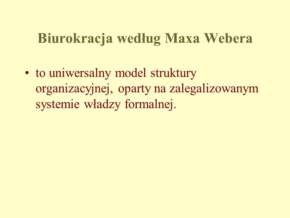 Biurokracja według Maxa Webera