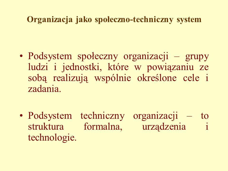 Organizacja jako społeczno-techniczny system
