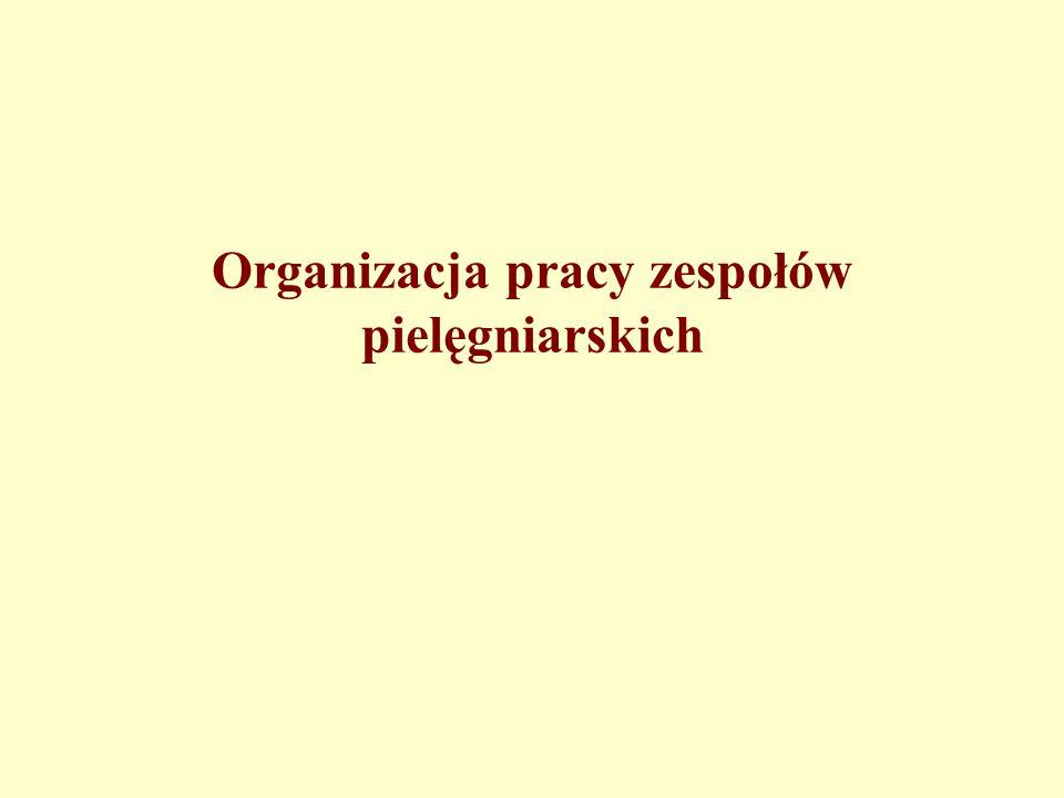 Organizacja pracy zespołów pielęgniarskich