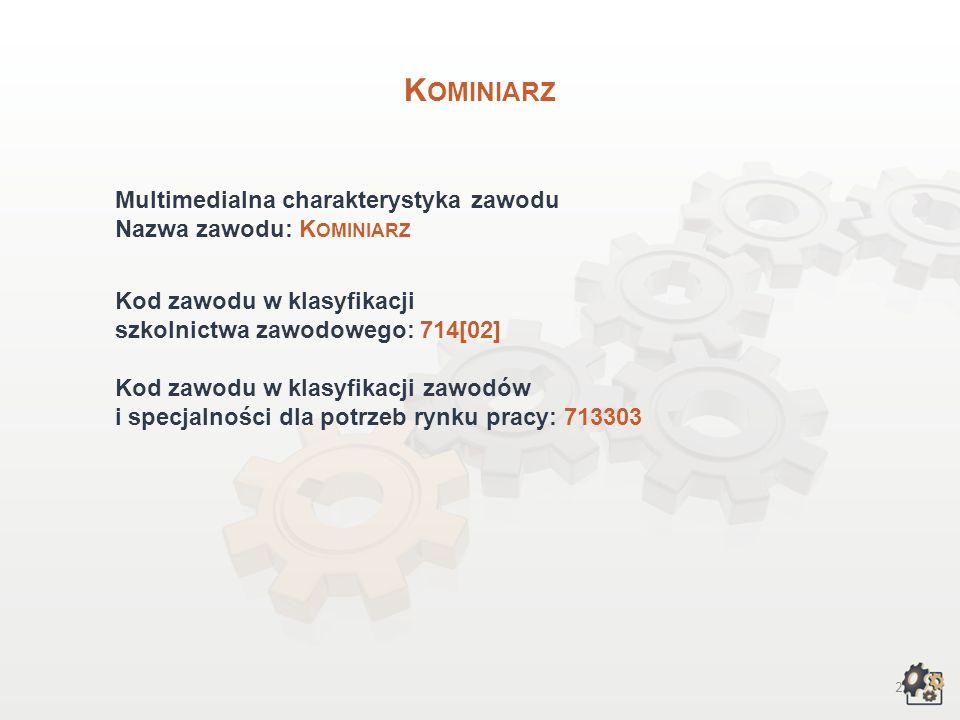 Kominiarz Multimedialna charakterystyka zawodu Nazwa zawodu: Kominiarz