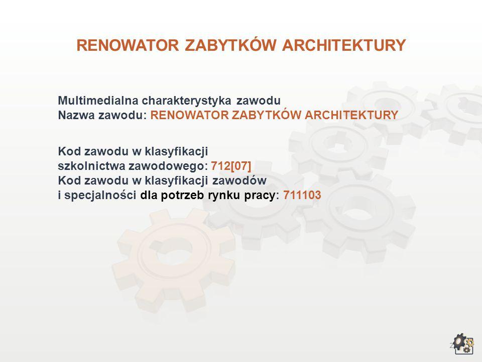 RENOWATOR ZABYTKÓW ARCHITEKTURY