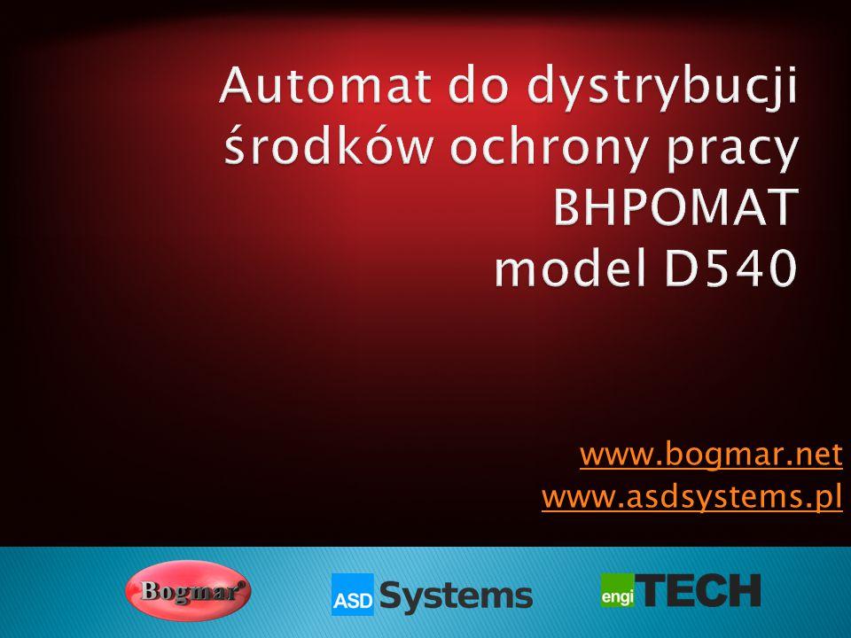 Automat do dystrybucji środków ochrony pracy BHPOMAT model D540