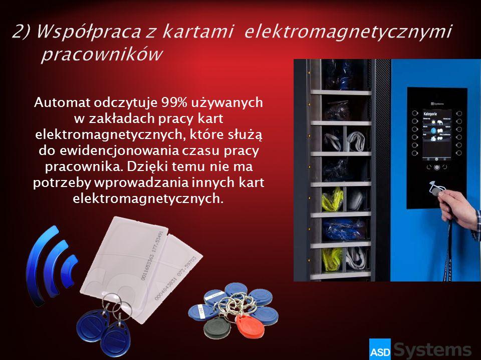 2) Współpraca z kartami elektromagnetycznymi pracowników