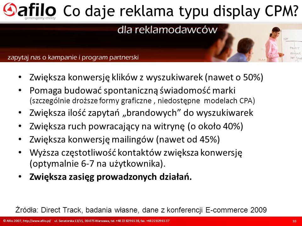 Co daje reklama typu display CPM