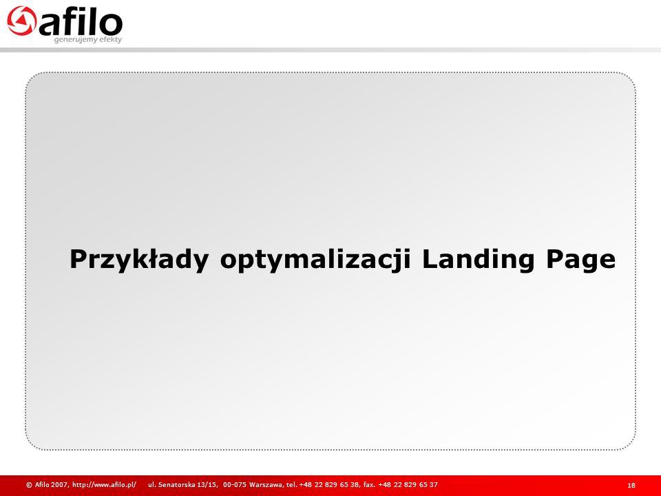 Przykłady optymalizacji Landing Page