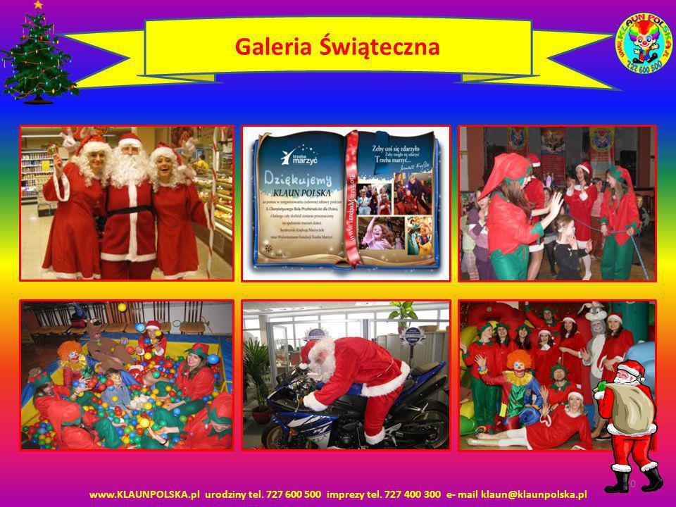 Galeria Świąteczna www.KLAUNPOLSKA.pl urodziny tel.