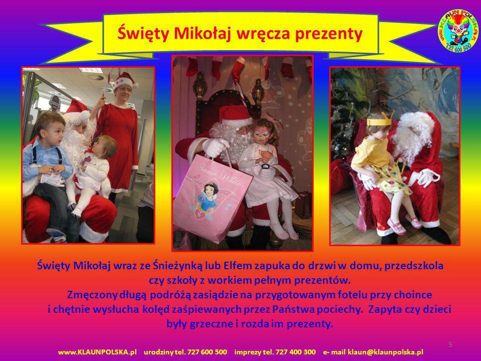 Święty Mikołaj wręcza prezenty